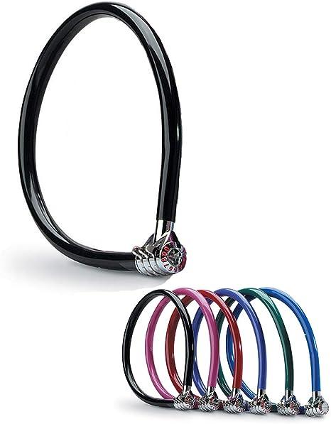 MASTER LOCK Candado Bicicleta [55 cm Cable] [Combinación ...