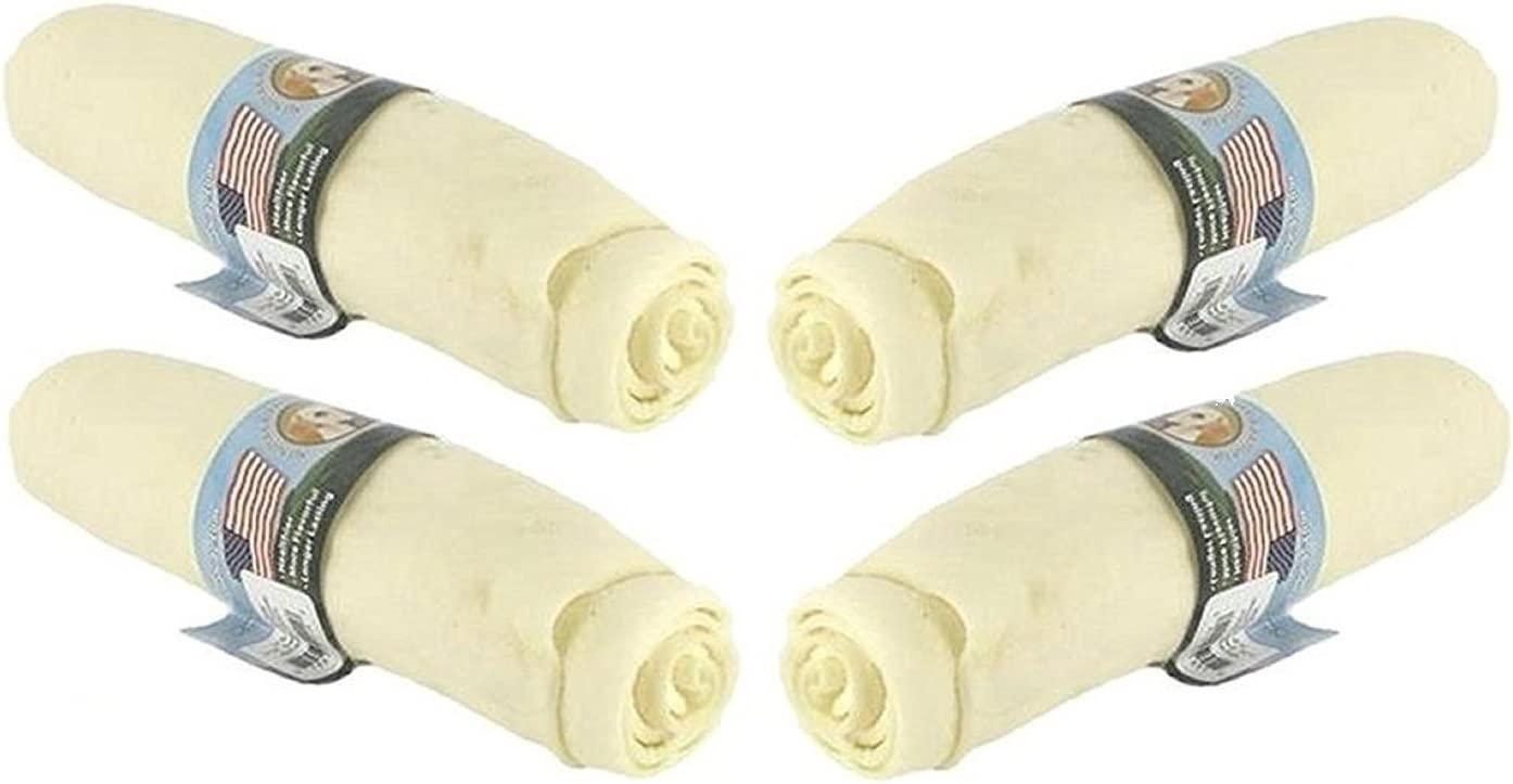 Wholesome Hide 4 Pack of Super Thick Retriever Roll Dog Treat