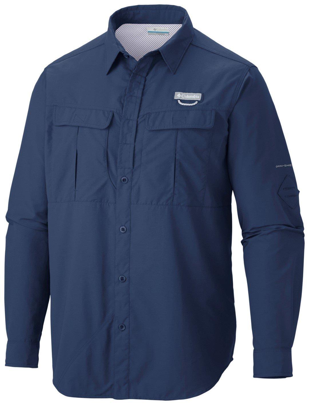 Columbia Shirt, Langarm-Wanderhemd für Herren, Cascades Explorer Long Sleeve Shirt, Columbia Nylon fa244f
