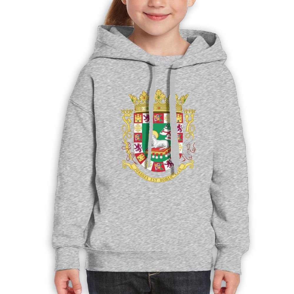 DTMN7 Coat Of Arms Of The Commonwealth Of Puerto Rico 2018 Style Printed Crew-Neck Hoodie For Teen Girl Spring Autumn Winter