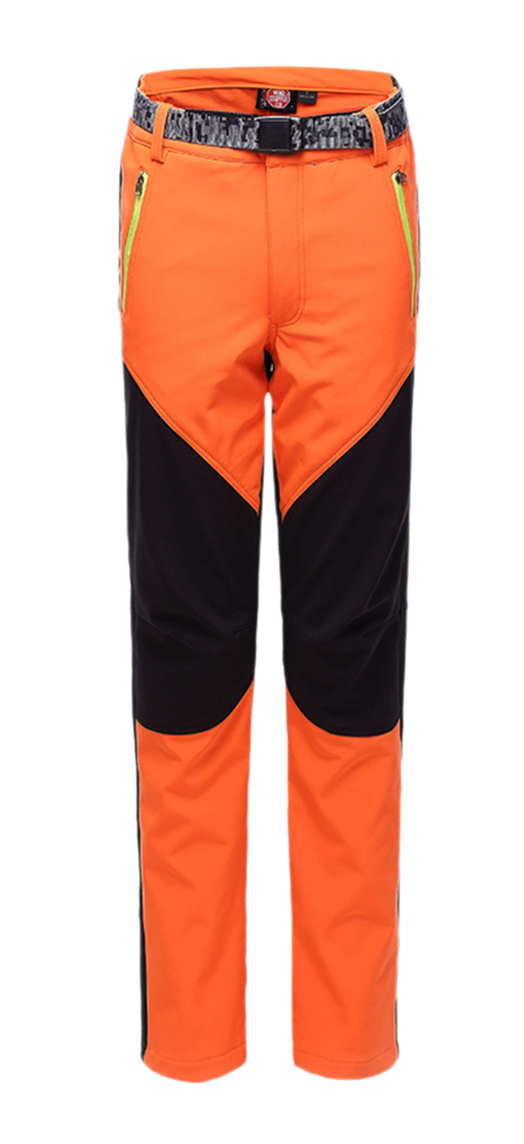CATERTO Women's Outdoor Windproof Waterproof Softshell Fleece Snow Pants Orange L by CATERTO