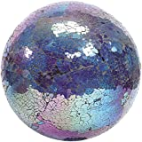 VCS GLMTBP10 Mosaic Glass Gazing Ball, Turquoise/Blue/Purple, 10-Inch