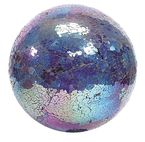VCS GLMTBP10 Mosaic Glass Gazing Ball, Turquoise/Blue/Purple, 10-Inch