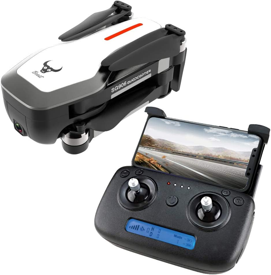 DishyKooker ZLRC Bestia SG906 GPS 5G WiFi FPV con 4K Cámara Ultra Clara sin escobillas Selfie Plegable RC Drone Quadcopter RTF Blanco