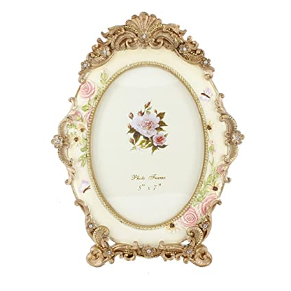Amazon 5 By 7 Inches Oval White Crystal Victorian Flower