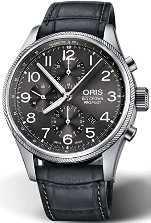 b50d4653b Oris Big Crown ProPilot Chronograph Mens Stainless Steel 44mm Grey Face Oris  Watch - Grey Leather