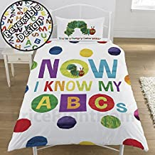 The Very Hungry Caterpillar ABC UK Single/US Twin Duvet Cover Set