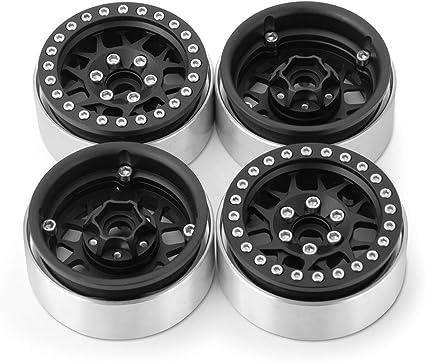 """1.9/"""" Aluminum 1//10 RC Beadlock Wheel Rim for TRX4 D90 D110 CC01 Axial SCX10 II M"""