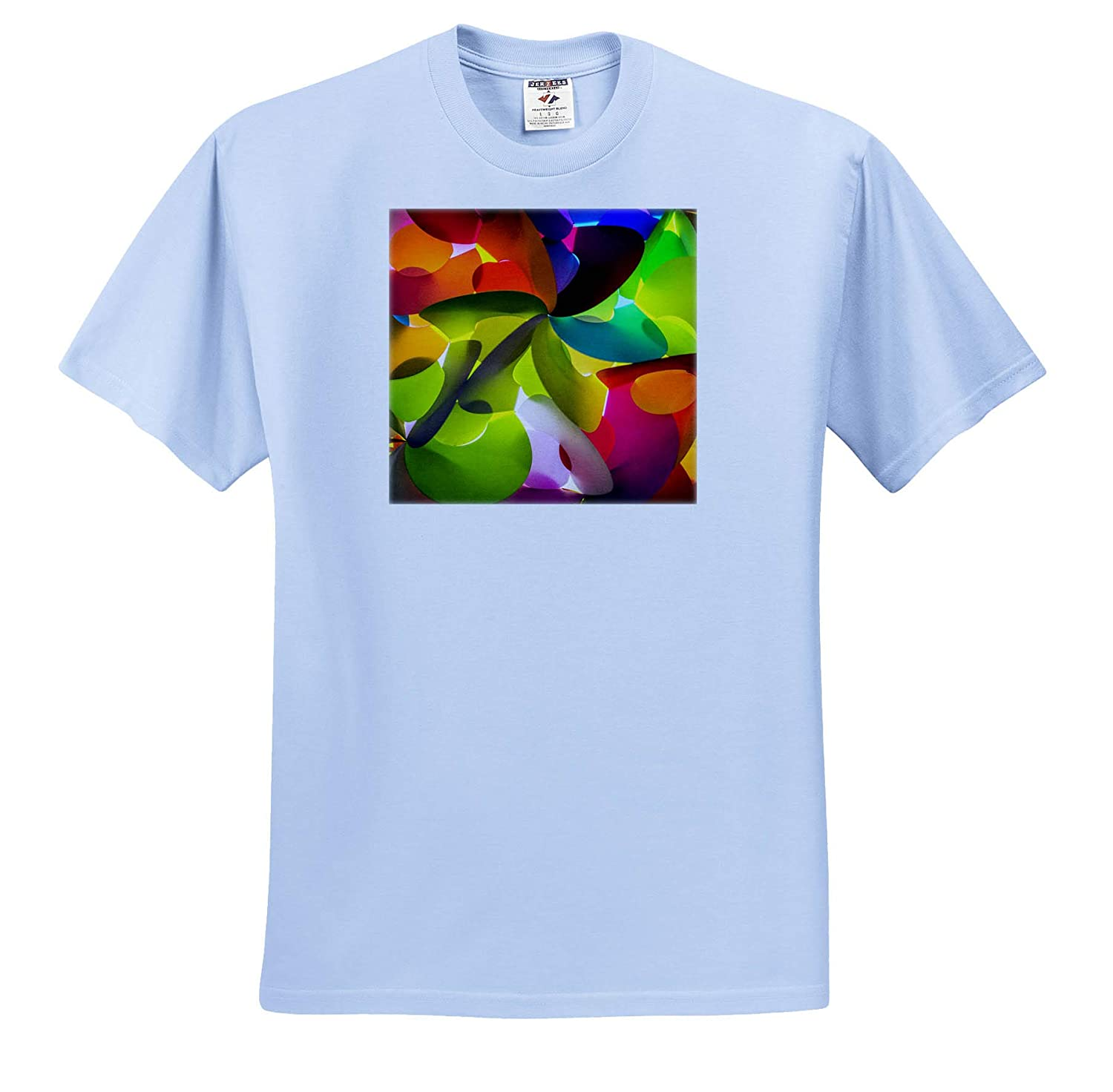 Abstracts 3dRose Danita Delimont Adult T-Shirt XL Colorful Shapes ts/_312831