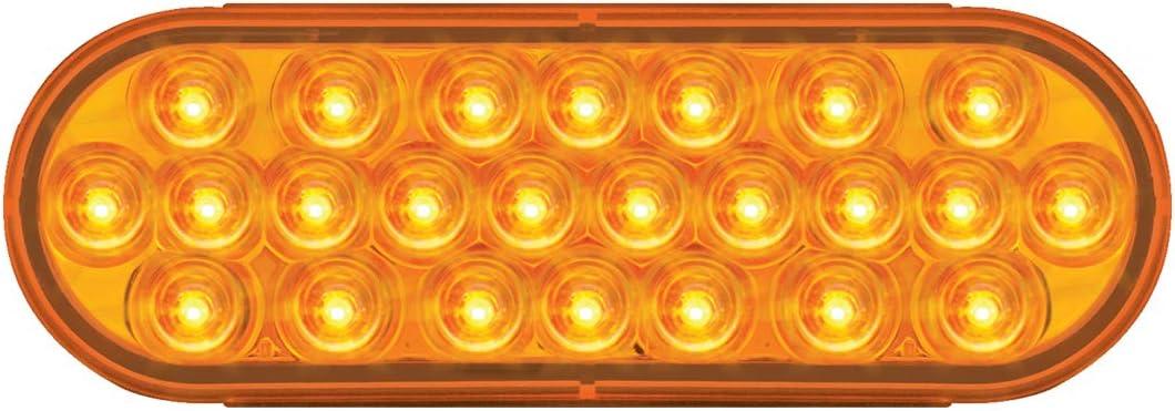 2 Oval Pearl Lens, 9~36V GG Grand General 76472 Amber//Amber LED Strobe Light