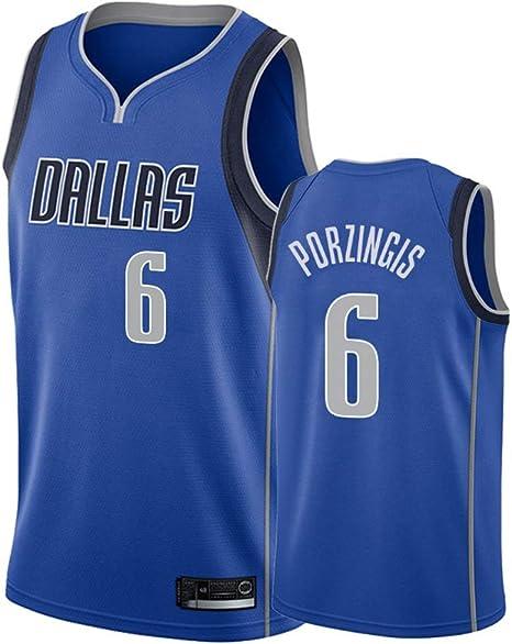 PANGOIE Dallas Mavericks 6# Porzingis City Edition Bordado Cosido Jersey de los Hombres Camiseta de Baloncesto: Amazon.es: Deportes y aire libre