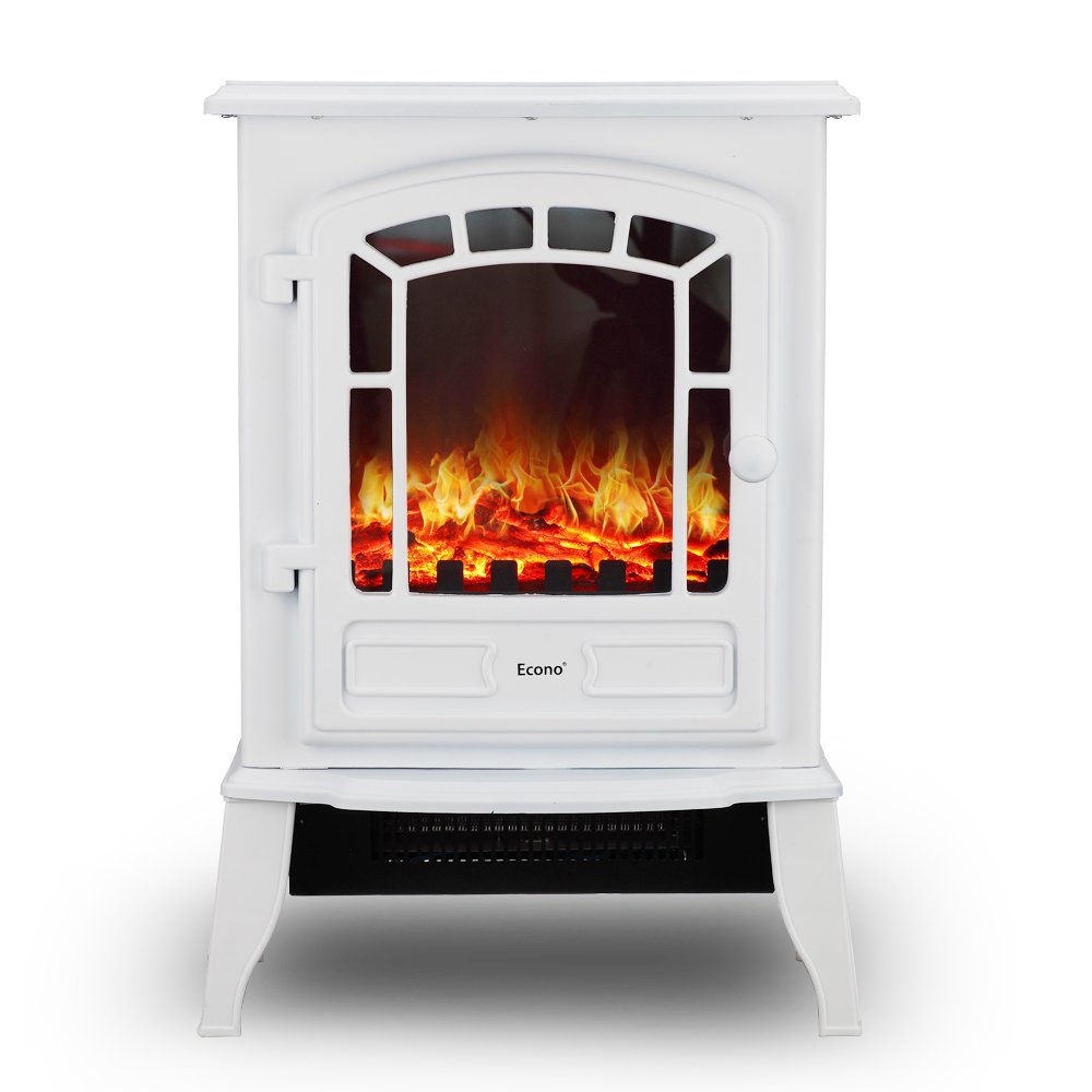 electric log heater for fireplace. Econo® White 2000W Log Burning Effect Electric Fire Stove Heater Fireplace: Amazon.co.uk: Kitchen \u0026 Home For Fireplace