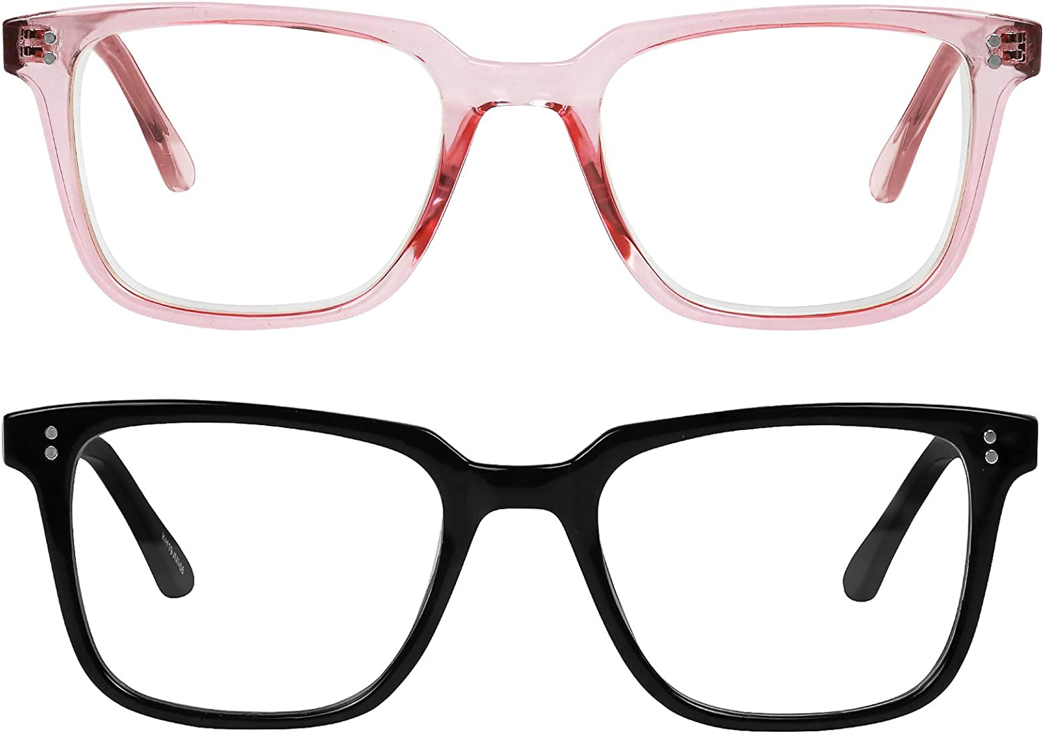 Yogo Vision Blue Light Blocking Glasses Clear Safety Specs for Men & Women Protect Against Eye Strain, Glare from Monitor, Laptop, Phone - Office, Work, Gaming Eyewear - Set of 2