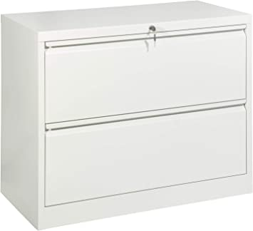 Grey 2 Drawer Wide Steel Lateral Filing Cabinet Storage Lockable Drawers Flat Pack Easy To Build Video Available 450mm Deep Amazon Co Uk Office Products