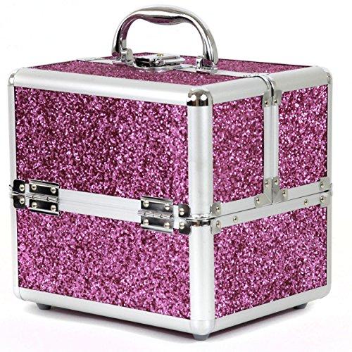 Bucasi CB15324 Девушки Подростки Розовый Искра Алюминиевый Макияж делу о Организация Макияж ювелирные изделия Лак для ногтей