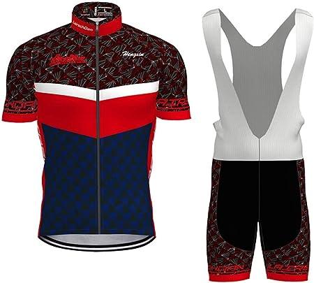 COMEIN Abbigliamento Ciclismo Uomo Set Body Tuta Ciclismo Salopette da Ciclismo da Uomo Estivo con Maglia e Pantaloncini Corti Imbottiti