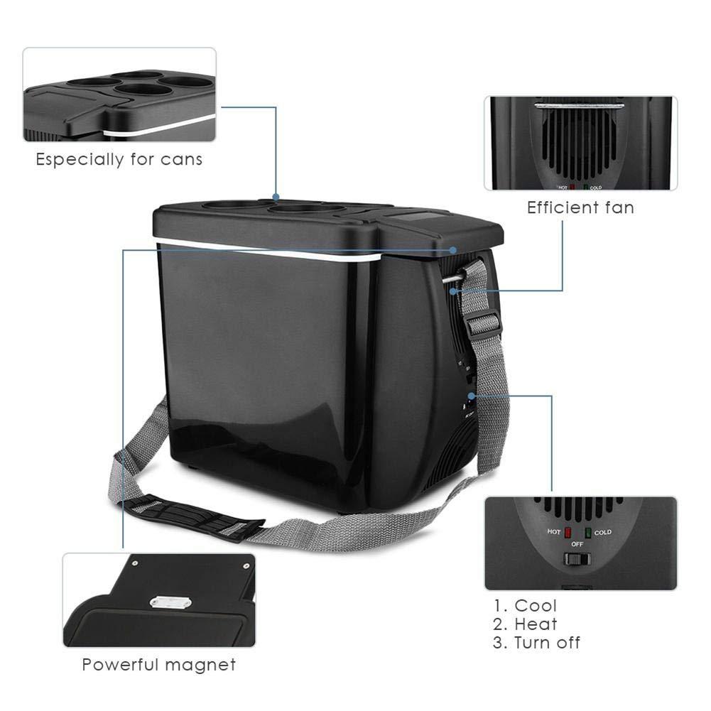 yummyfood 6L Mini Auto K/ühlschrank Mit Cools Heats Elektrischer Mini Gefrierschrank Getr/änkek/ühlschr/änke Mini Bar Mini Fridges Car Refrigerator F/ür Die Reise Picknick Camping