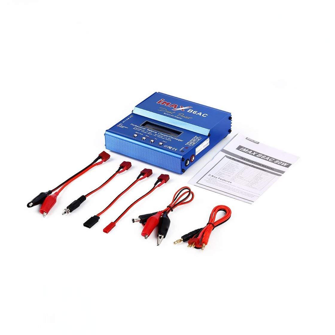descargador de balanza Compacto Inteligente EE Laurelmartina Profesional iMAX B6AC Cargador UU Enchufe T Ranuras CA a Adaptador de CC