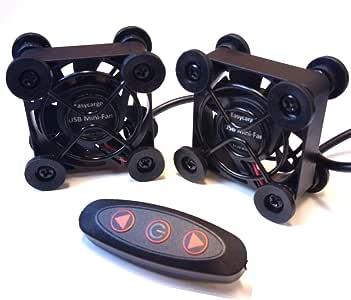 Easycargo 2 Pack 40 mm USB ventilador silencio, ventilador USB ...