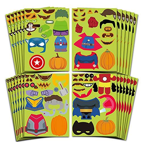 Make A Halloween Pumpkin Game (partyGO Make a Super Pumpkin Monster Stickers for Halloween Games, Halloween Pumpkin Stickers for Kids Halloween)