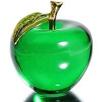 Waltz&F Crystal Apple Paperweight Craft Decoration (Green)
