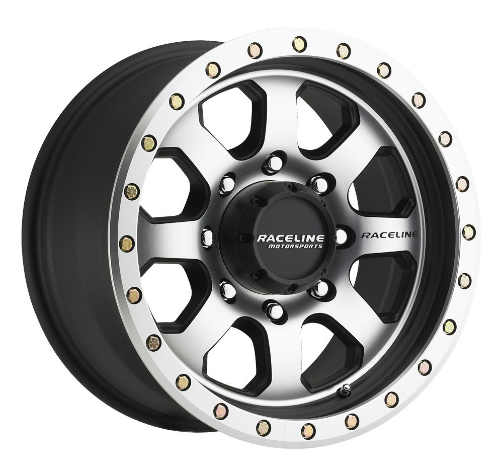 Raceline 929M-AVENGER Black Machined Face Wheel with Machined Finish (17x9/8x170, 20mm Offset)