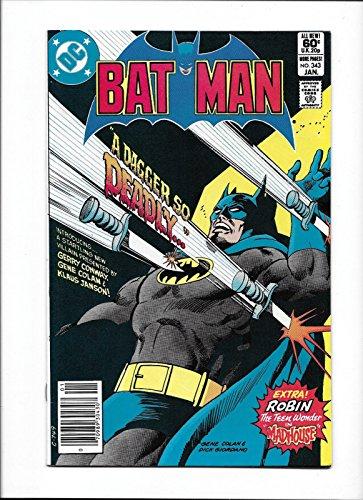 Bat Dagger - BATMAN #343 [1982 NM-]