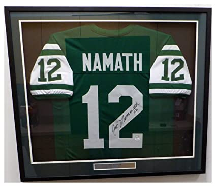 Image Unavailable. Image not available for. Color  New York Jets Joe Namath Autographed  Signed Framed Green Jersey - JSA Authentic d5b4ab4d9
