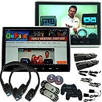 [Pair] Autotain MEGA 12 Inch Headrest Monitor DVD Player +HDMI +1080P +Home Power Supply +Cloud IR Headphones +BONUSES