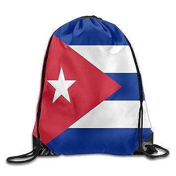 Vilico Bandera de Cuba Personalizado Gimnasio con cordón Bolsas de Viaje Mochila Tote Mochila Escolar: Amazon.es: Deportes y aire libre