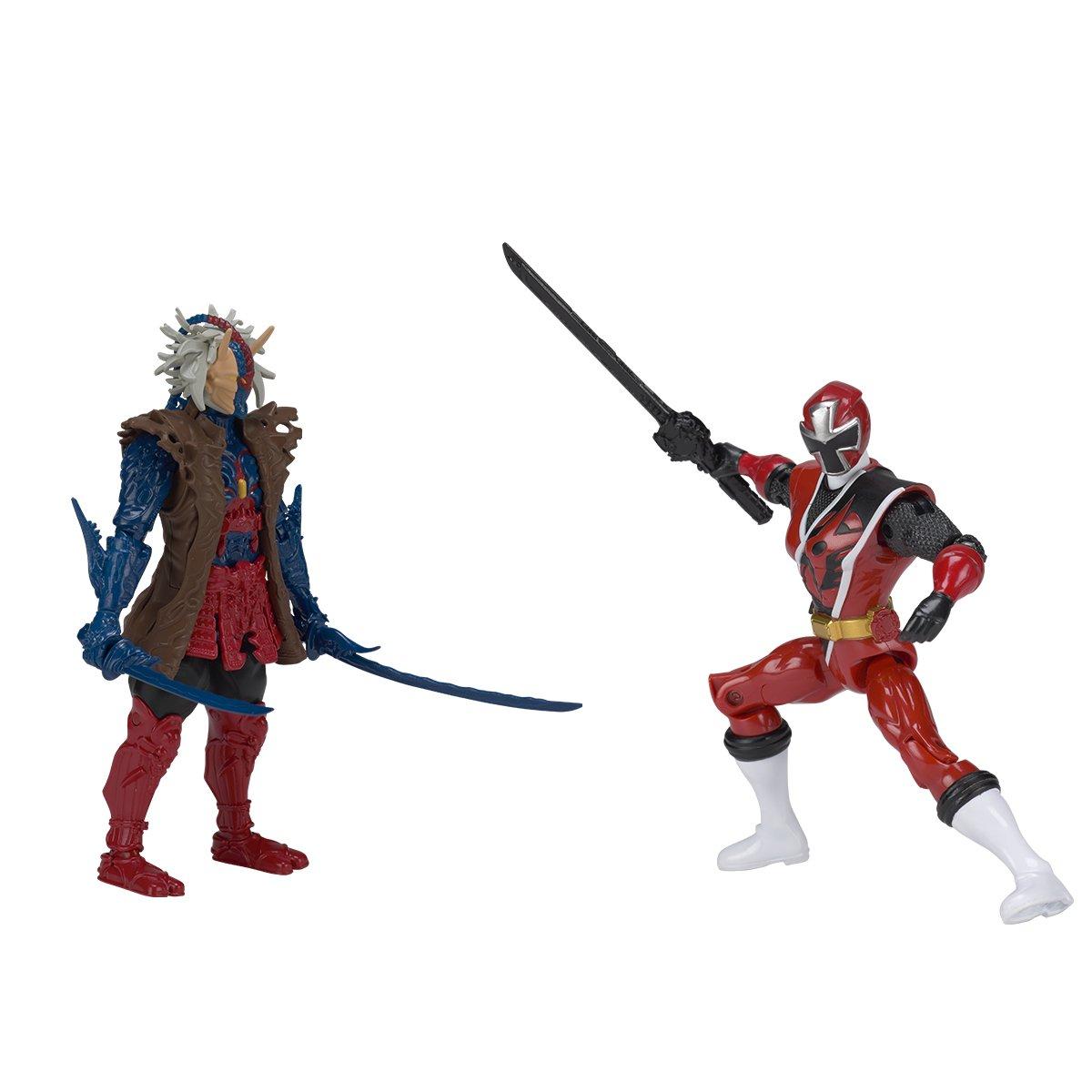 43848 Ranger Bleu Vs Ripperat Pack de 2 Figurines 12cm Power Rangers