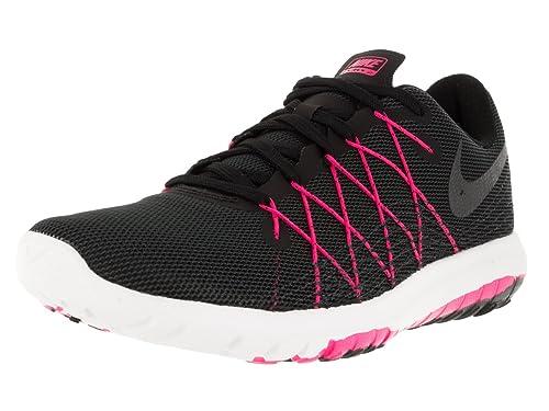 official photos 6d845 51447 Nike Women s Flex Fury 2 Black Metallic Hmtt Hypr Pink Anthrct Running Shoe