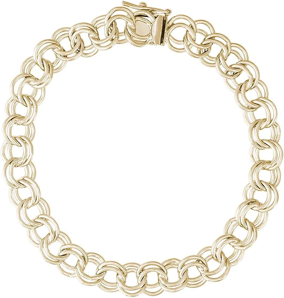 Rembrandt Charms Large Double Link Curb Classic Charm Bracelet