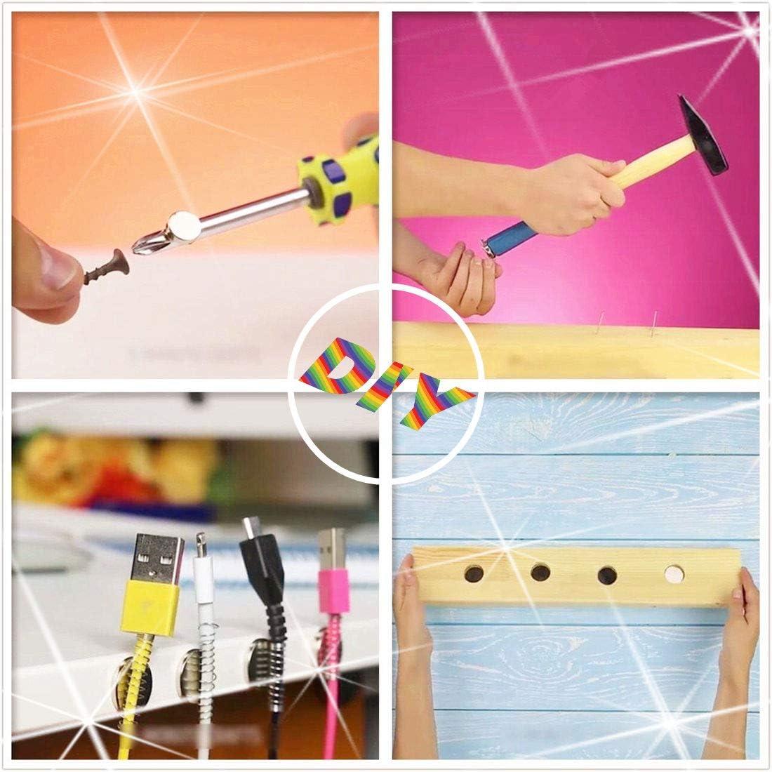 5-Size Kit//A fai da te Scientific frigo Silver Building artigianato e magneti ufficio permanente Magneti a disco