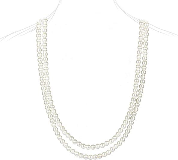 Señoras Perlas De Collar Largo Colgante Muñeco de Nieve Joyería Navidad Regalos Z