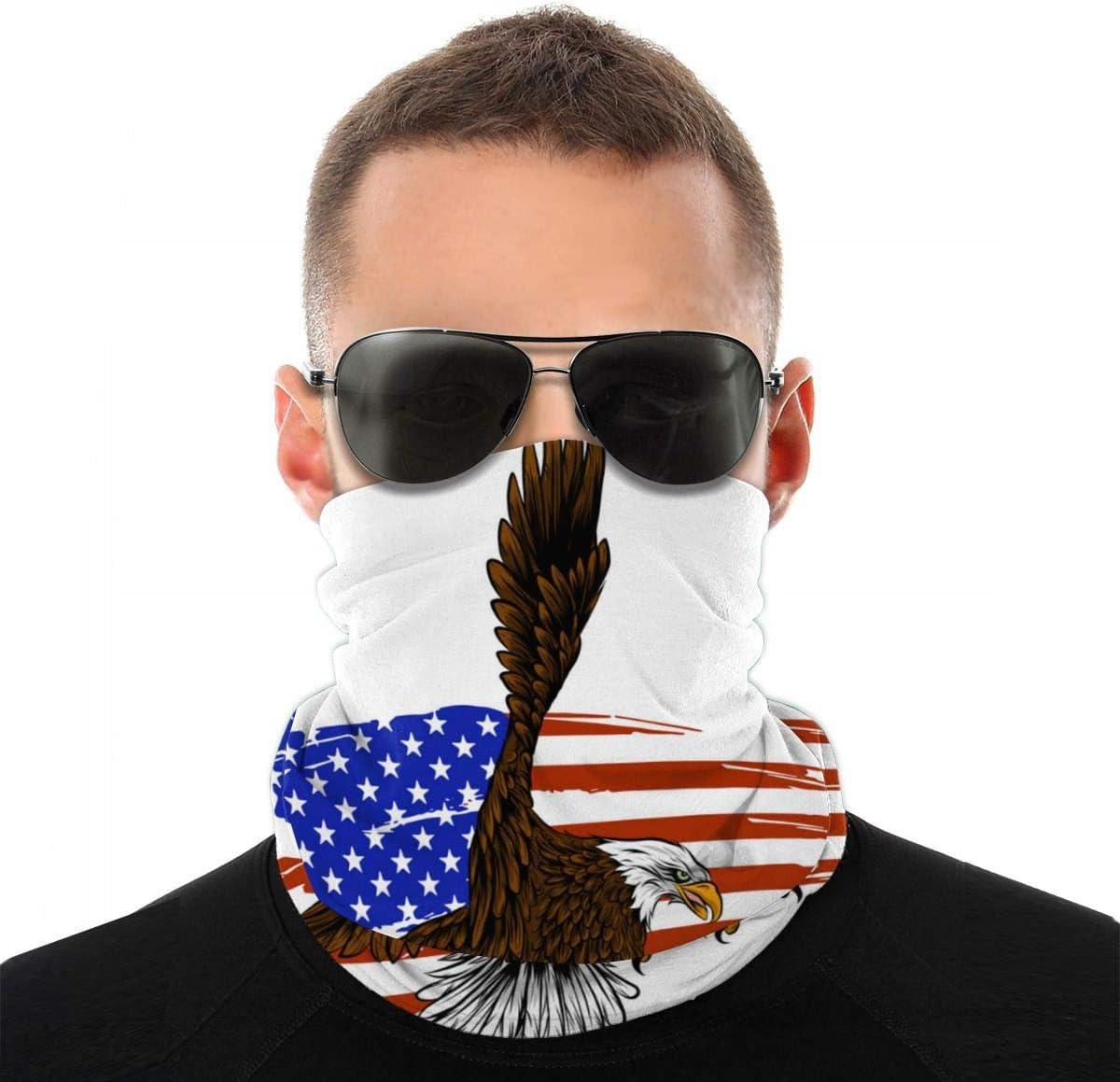 best pillow American Eagle contra la Bandera de Estados Unidos Pañuelos Cabeza Multifunción Bufanda Bandana,Bragas de Cabeza Turbante Magico Pasamontañas Tubo UV Pulsera Mascarilla para Hombre Mujer