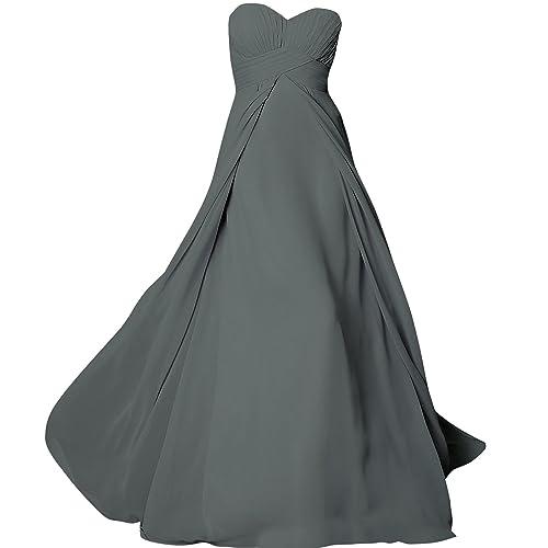ShangYou Women's Chiffon Long Sweetheart Evening Gown Party Dresses