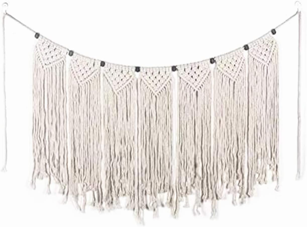 SuperLi Macrame Wall Hanging Small Woven Tapestry Wall Art Decor – Beautiful for Boho Home Decor, Apartment, Nursery, Party Decorations 7138
