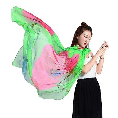 YiyiLai Echarpe Multifonction Femme Imitation Soie Foulard Châle Plage  Protection de Soleil Style  A cd50271674e