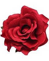 Broche/épingle à cheveux San Bodhi pour femme en forme de rose, pour mariage