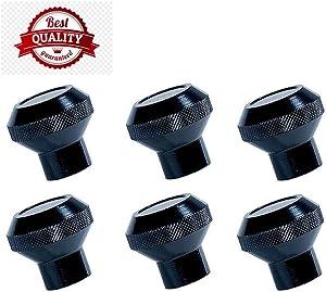 for Jeep Cj Cj5 Cj7 76-86 Aluminium Black Dash Knobs Set I Al8880-Bl