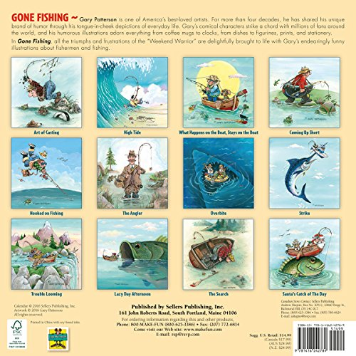 Gone Fishing by Gary Patterson 2017 Wall Calendar