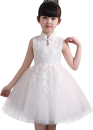 Todaies Baby Girls Lace Dresses,Toddler Kids Clothes Floral Printing Party Princess Dresses