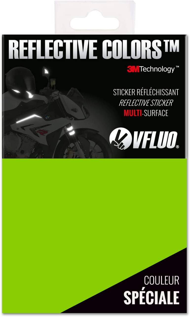 10 x 15 cm sheet 3M Technology/™ Universal adhesive DIY kit for Helmet//Motorbike//Scooter//Bike Red VFLUO 3M REFLECTIVE COLORS/™