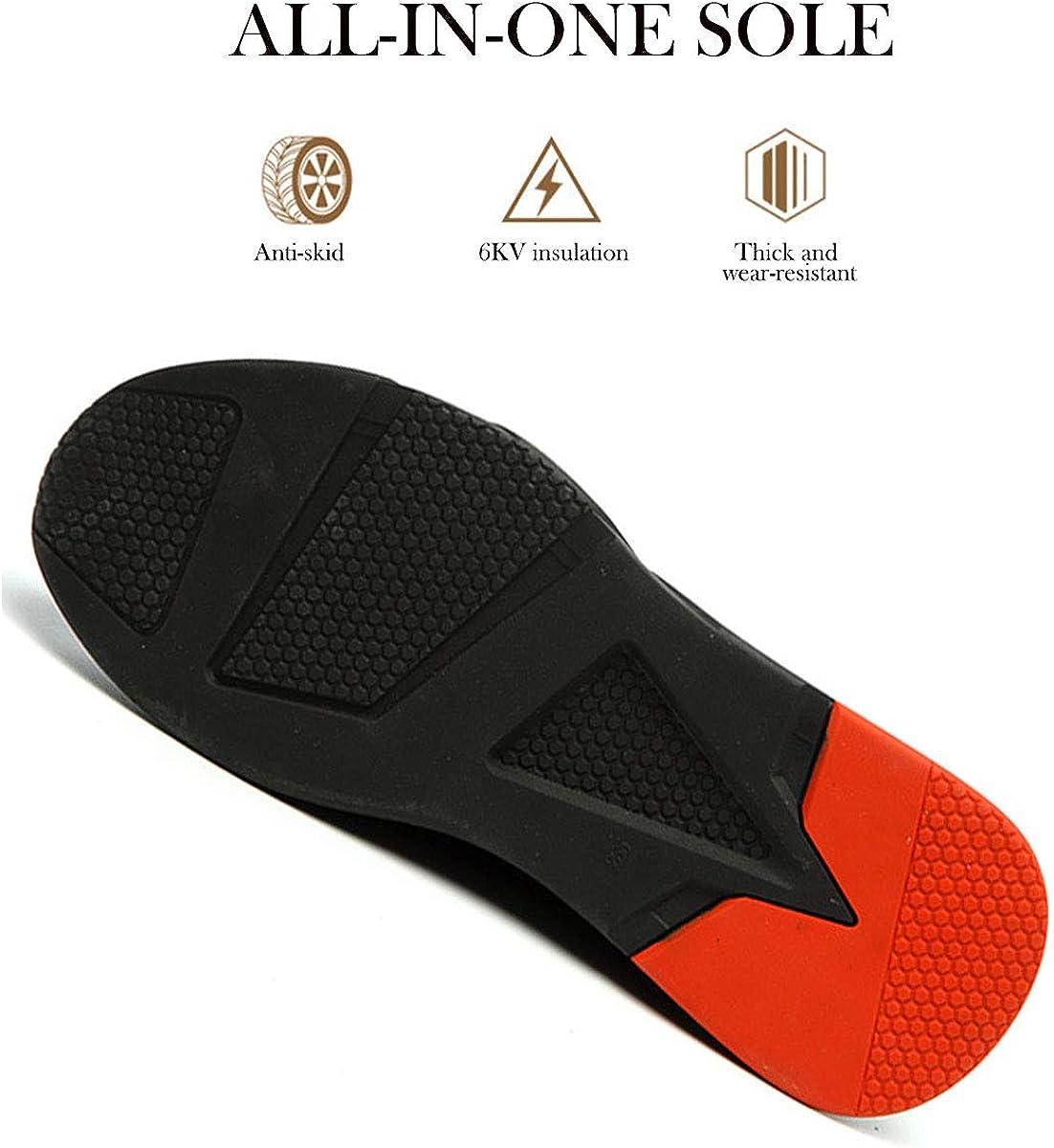 DoGeek Chaussure de Securit/é Homme Legere Femme Confortable Chaussures de Travail Basket de Securite Homme Embout de Protection en Acier