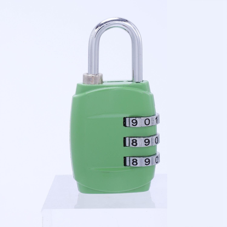 4 x 20 mm Laiton Combinaison Cadenas De Voyage Maison valise bagages de portail