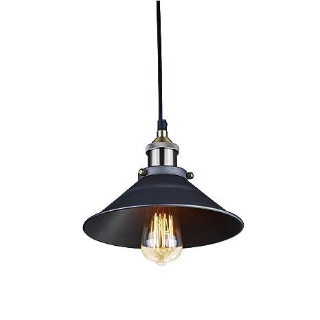 CMYK Las luces del techo de la vendimia industrial colgante Retro cortinas de la lámpara de la fábrica de Edison