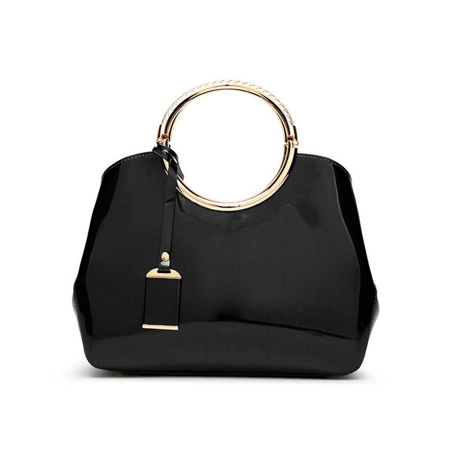86b1ab8e5 Vezela® PU Leather Casual Satchel Shell Bag - Black Color Designer Glossy  Hand Bags for Women Girls  Amazon.in  Shoes   Handbags
