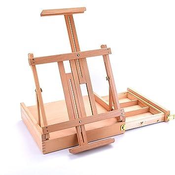 Soporte de caballete infantil marco de la tabla base de madera y ...