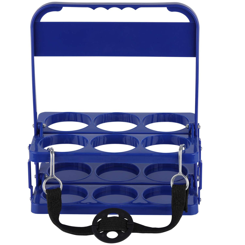 Foldable Plastic Drink Carrier, Beverage Delivery Holder, Ideal for Grubhub Doordash Instacart Postmates Uber Eats Drivers, Catering, Restaurant
